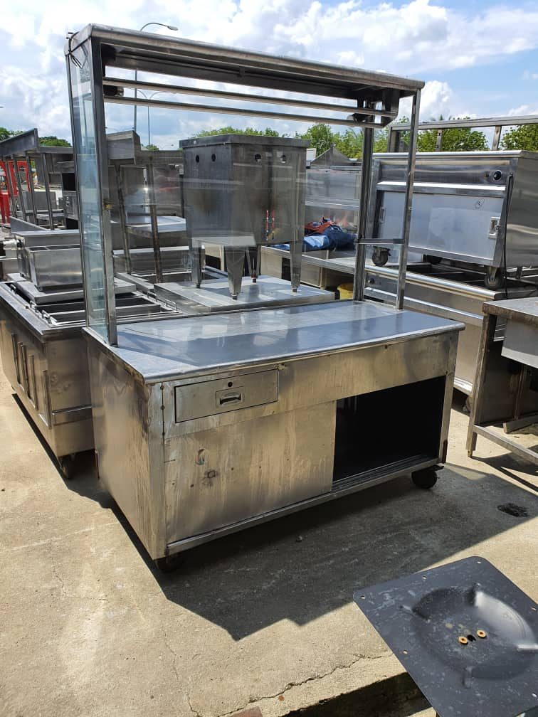 Stall Stainless Steel Terpakai/ Second Hand Stainless Steel Stall/ 二手白鋼檔