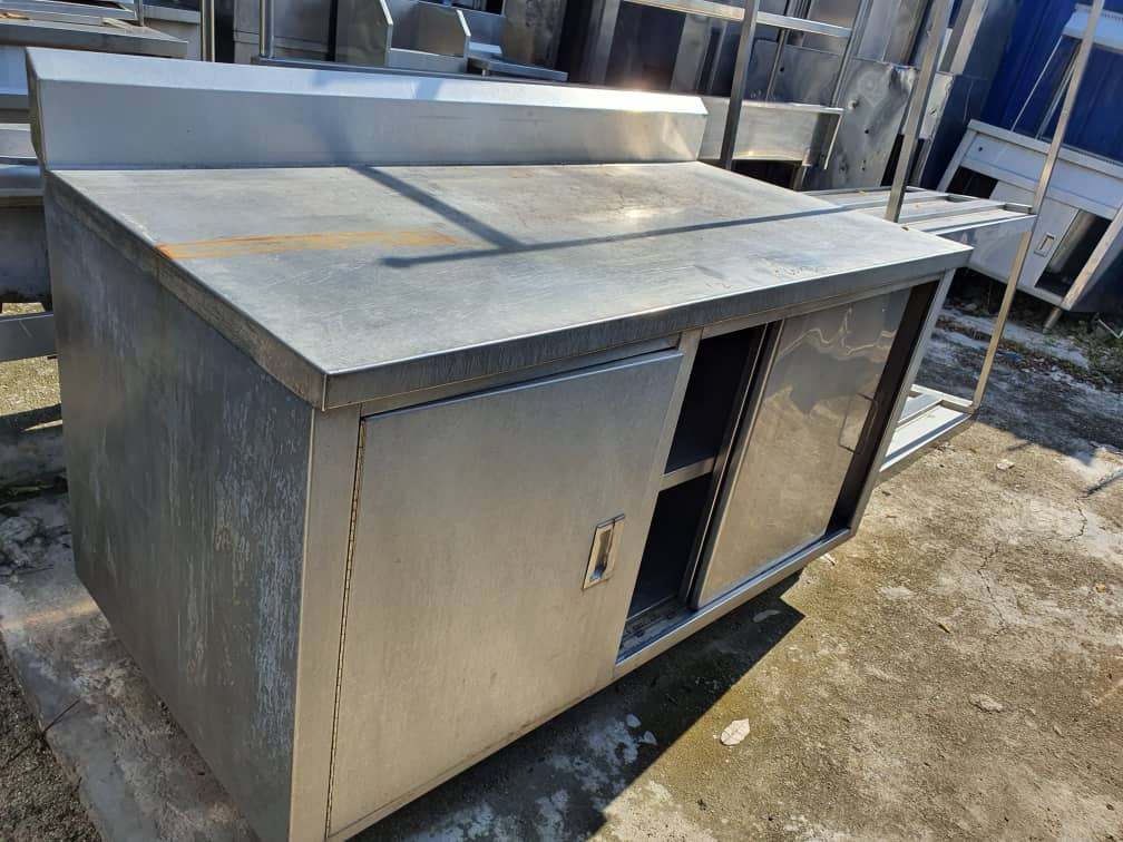 Kabinet Stainless Steel Terpakai/ Second Hand Stainless Steel Cabinet/ 二手白鋼櫃