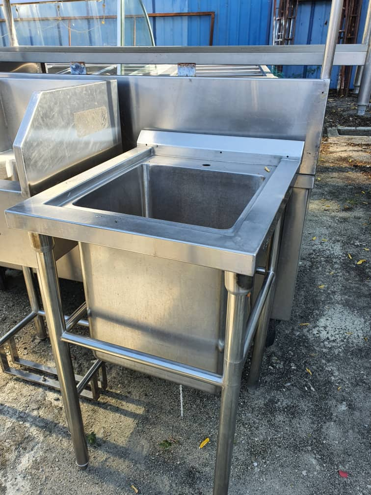 Sinki Stainless Steel Terpakai/ Second Hand Stainless Steel Sink/ 二手白鋼鋅盆