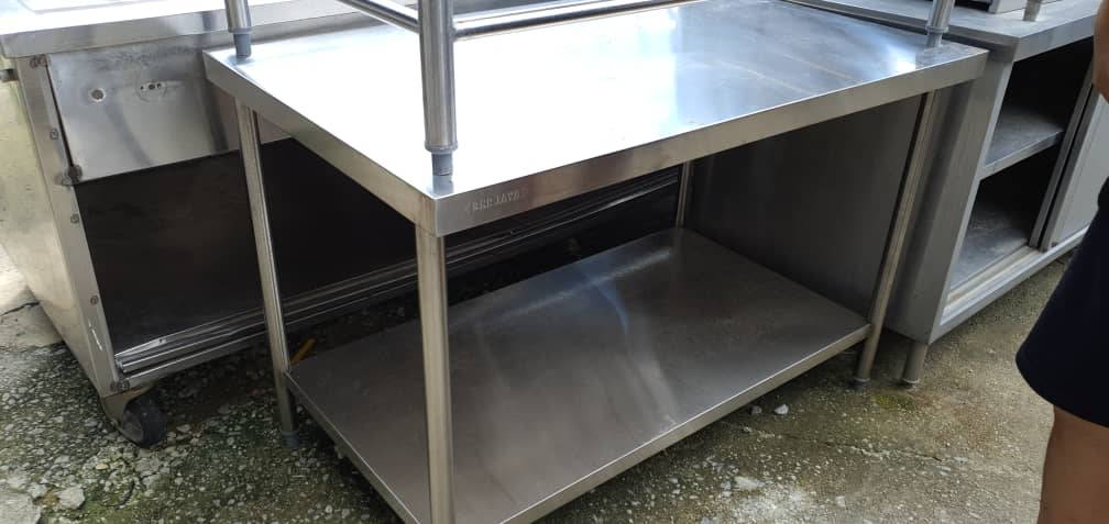 Meja Stainless Steel Terpakai/ Second Hand Stainless Steel Sink/ 二手白鋼桌子