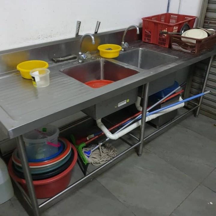 Double Bowl Sink 两洞白钢锌盆